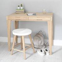 Oak Desk With Wall Storage