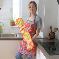 Fair Trade Kaffe Fassett Print Double Oven Gloves