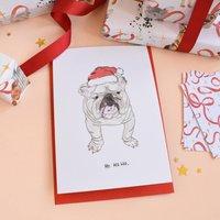 'Ho Ho Ho' Bulldog Christmas Card