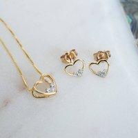 Gold Diamond Heart Set *, Gold