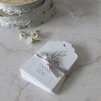 Thank You Tags For Wedding Favours