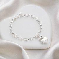 Personalised Girls Heart Locket Bracelet