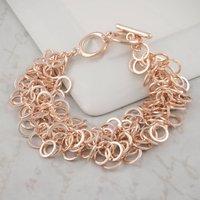 Rose Gold Rings Bracelet, Gold
