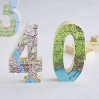 Map Location Wood Birthday Age Number Gift