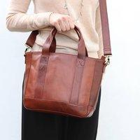 Brown Leather Handbag Tote