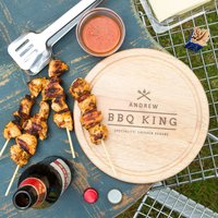Mens 'Bbq King' Personalised Chopping Board