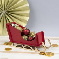 Mini Christmas Sleigh Decoration