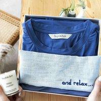 Relax Yoga Gift Set With Bamboo Pyjama Loungewear
