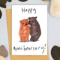 Happy Anniversary Bear Card
