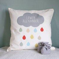 Personalised Cloud Name Cushion, White