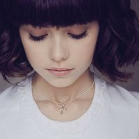 Childrens Cherish Diamond Cross Christening Necklace