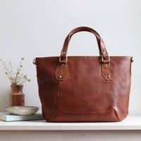 Leather Handbag, Crossbody Shoulder Bag Tan