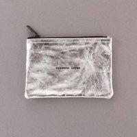 'Unicorn Lover' Silver Zipper Pouch Bag