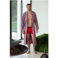 Mens Thorncliffe Tartan Two Fold Flannel Robe