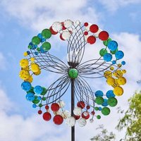 Rainbow Wind Spinner Garden Light Ornament