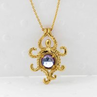 Octopus Alexandrite Necklace Gold/Silver, Silver