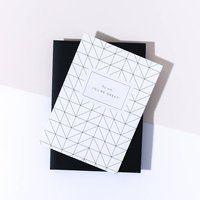 'Hey You You're Great' Grid Card, Ebony Envelope