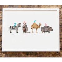Customised Animal Name Print