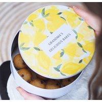 Personalised Lemon Luxury Cake Tin