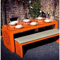Elegance Alumminium Isometric Table And Bench Set