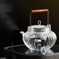 Handmade Glass Teapot Blooming Series
