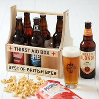 Craft Beer Six Pack In Wooden Crate