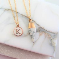 Personalised Geometric Necklace Set Gift For Her