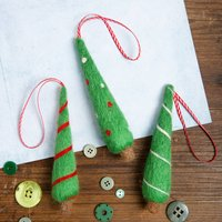 Christmas Tree Decorations Needle Felting Craft Kit