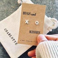 Hugs And Kisses Silver Earrings, Silver