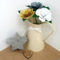 Leather 3rd Anniversary Large Roses In Jug Carafe Tag
