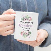 Personalised This Amazing Grandma Belongs To Mug
