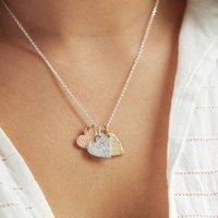 Multi Heart Fingerprint Stamp Necklace