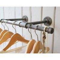 Industrial Steel Pipe Clothes Rail