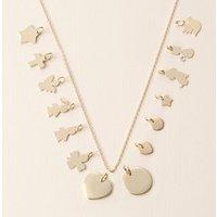 Mix And Match Gold Plated Chain Necklace, Gold