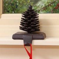 Cast Iron Pine Cone Christmas Stocking Hanger