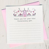 Christening Thank You Card Pack, Pink/Blue