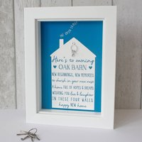 Personalised Happy New Home Framed Print