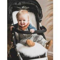 Baa Baby Pram Style Sheepskin Pram Liner Ivory Long