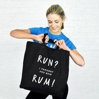 Run? Rum Gym Womens Tote Bag