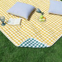 Reversible Country Gingham Picnic Blanket