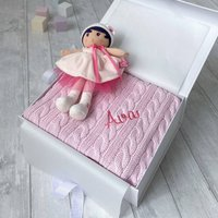 Personalised Toffee Moon Blanket And Kaloo Perle Doll