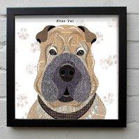Shar Pei Dog Print