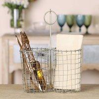 Industrial Kitchen Wire Utensil Storage Basket