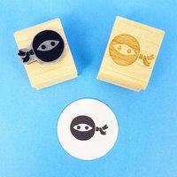 Mini Ninja Rubber Stamp