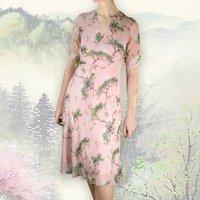 Cloudpine Print Silk Georgette Tea Dress