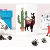 'Festive Fiesta' Llama Christmas Card