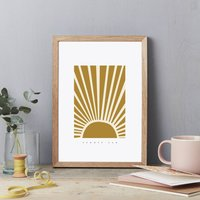 Summer 6am Sunshine Art Print Poster A4