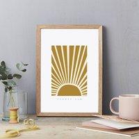 Summer 6am Sunshine Art Print Poster A4