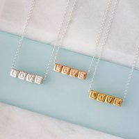 'Love' Necklace, Silver/Gold/Rose Gold