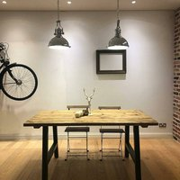 A Frame Reclaimed Wood Dining Table